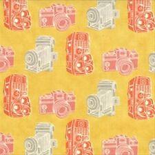 Julie Comstock Cosmo Cricket 2wenty Thr3e Kodachrome Fabric in Mustard 37054-14