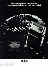 PUBLICITE ADVERTISING 126  1979   Braun  rasoir  micron