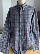 Timberland Green/Brown Check Cotton Shirt Size Medium