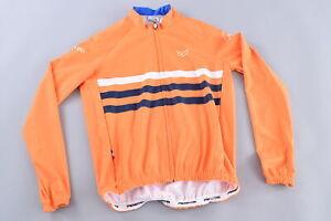Parentini Volero Long Sleeve Cycling Jersey Men's XL Orange/Navy/White Road Bike