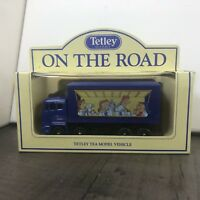 AUTHENTIC VINTAGE BOXED LLEDO DIE CAST TETLEY ON THE ROAD TOY LORRY 1992