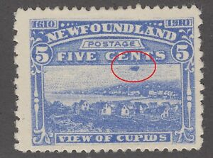 Newfoundland #91a Mint Hinged F-FV Cloud in Sky variety