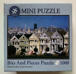 SAN FRANCISCO, CA, PAINTED LADIES ROWHOUSES MINI JIGSAW PUZZLE 12x17 1000 PIECES