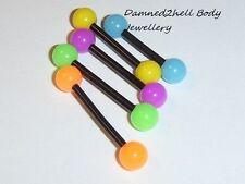 Tongue Bioplast/Bioflex 14g (1.6 mm) Body Piercing Jewellery