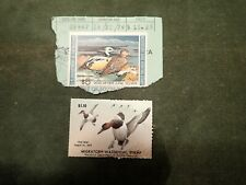 Us Md3 1976 $1.10 & Rw40 $5 1973 Duck Stamps Used