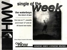 """8/5/93PGN16 ADVERT 7X10"""" THE WATERBOYS : THE RETURN OF PAN"""