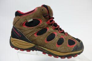 MERRELL Waterproof Brown Sz 4.5 Kids Suede Boots