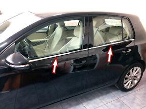 EDELSTAHL FENSTERLEISTEN CHROM für VW GOLF 6 VI | 4 TÜREN | 2008-2012 | 4tlg Set