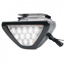 F1 Style Triangle 12 WHITE LED Flashing 3rd Brake Lamp Light