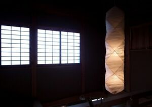 Isamu Noguchi Akari 35N+ST2 Floor Stand Lamp Light Washi Paper Handcraft F/S