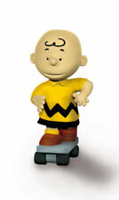 Skateboarder Charlie Brown 2 inch Figurine Peanuts Miniature Figure Skateboard