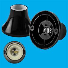 Edison Screw Black Batten Lamp Holder ES E27 LightBulb Wall Fixing Socket