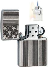Zippo 28974 Flag Armor Antique Lighter & Z-PLUS INSERT BUNDLE