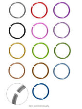 """Ear Nose ring hoop jewelry Anodized Titanium 20ga (0.8mm) 5/16"""" (8mm)"""