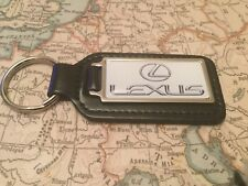 LEXUS Quality Black Real Leather Keyring Oblong RX IS LS GS NX CT RC