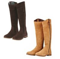Dublin Kalmar Suede Tall Boots RCS memory foam and PU footbed for the ultimate c