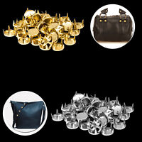 9mm Iron Flat Nail Head Studs Gold Silver for Leathercraft Bag DIY Embellishment