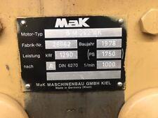 MaK 8M282 AK Notstromer 1085 kva  1 MW  V90 Lok  , Schiffsmotor