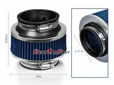 """2.75"""" Inches Cold Air Intake Bypass Valve Filter 70mm BLUE Acura / Honda"""