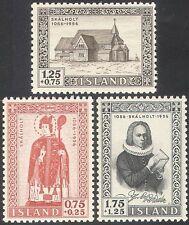 Islanda 1956 skalholt Cattedrale/VESCOVO/Saint/Edifici/PEOPLE 3v Set (n42530)