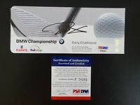 PAUL CASEY SIGNED AUTO BMW CHAMPIONSHIP COG HILL 2010 TICKET PSA AUTOGRAPHED