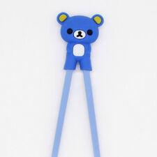 Cartoon Colorful Child Beginner Easy Use Fun Learning Training Helper Chopsticks Blue