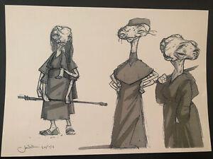 Star Wars Production Used Concept Art Print  Lucasfilm Creature Maz Kanata