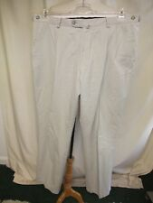 "Mens Trousers Austin Reed stone cotton adjustable waist 40"", inside leg 31"" 0738"