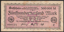 Ratzeburg -Kreis Lauenburg- 500.000 Mark vom 15.08.1923