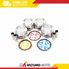 Pistons w/ Rings fit 93-97 Geo Prizm Toyota Corolla 1.6L DOHC 4AFE 16V