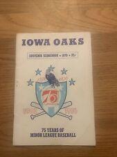 Iowa Oaks Souvenir Scrorebook 1976 75 Years Of Minor League Baseball