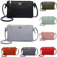 Women's Leather Crossbody Bag Pure Color Shoulder Bags Messenger Bag Coin bag