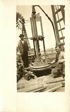 OIL DRILLING MACHINERY, INDUSTRY, LOT OF 5 REAL PHOTOS, RPPC, VINTAGE POSTCARDS