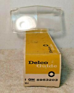 NOS PARKING LAMP LENS 1962 CADILLAC 5953203 GUIDE 5 SAE DP62