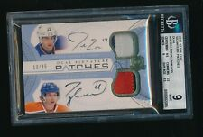 11-12 The Cup Auto Patches Dual Taylor Hall/Jordan Eberle 10/35 Beckett Graded 9