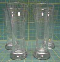 "Set of 4 Vintage Pasabahce Clear Glass Beer Drinking Glasses 7.25"" H, 13 Oz"