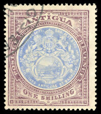 Antigua 1912 1s blue & dull purple very fine used. SG 49. Sc 37.