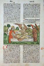 9. DEUTSCHE BIBEL BIBLIA GERMANICA INKUNABEL TOD MOSE KOLORIERT KOBERGER 1483