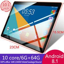 10.1'' Tableta Android 8.1 Ten core 6+64GB WiFi 3G 16MP Cámara TabletPC 2 SIM