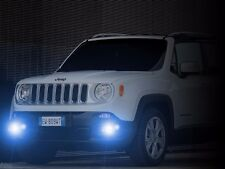 White Halo Fog Lamps Driving Lights Kit for 2015 2016 2017 Jeep Renegade