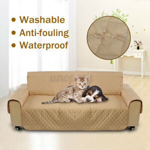 3 Seater Pet Sofa Couch Cover Removable Quilted Protector Slipcover w/   -.