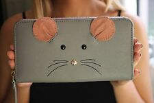 Kate Spade Cat's Meow MOUSE Lacey Zip Around Wallet  CAT & MOUSE FUN!