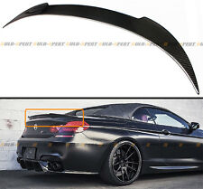 For 2012-16 BMW F12 640i 650i M6 CONVERTIBLE CARBON FIBER TRUNK SPOILER WING