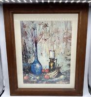 Korber Vintage Art Print Signed Framed Matted Ready To Hang
