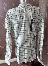Gap - Men's White / Green Check Shirt - size M / Medium - NEW