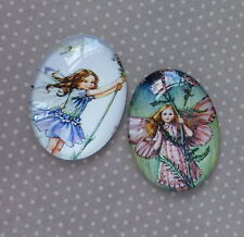 4 pcs 25x18mm Domed Oval Cabochons Character cabochon Fairy cabochon F4