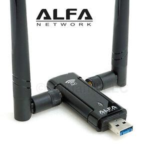 Alfa AWUS036AC 802.11ac AC1200 USB WiFi Wireless Adapter DUAL BAND dual antennas