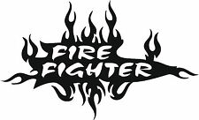 2 X Vinyl fire fighter Stickers Free Post