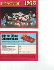 1978 MATCHBOX POCKET CATALOG