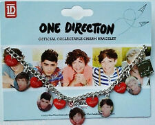 ONE DIRECTION 1D OFFICIAL MERCHANDISE CHARM BRACELET HEART INDIVIDUAL SHOTS NEW